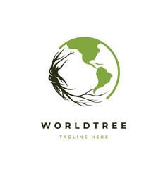 green world logo design vector image