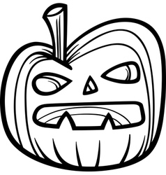 halloween pumpkin for coloring book vector image