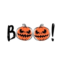 halloween sound boo vector image