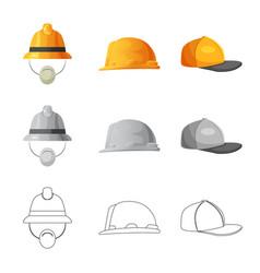 Headgear and cap logo vector
