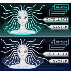 Hi tech technology vector
