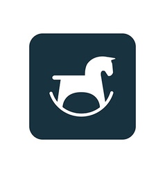 horse toy icon Rounded squares button vector image
