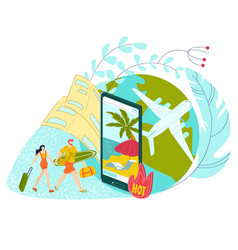 hot tour travel for vacation holiday at summer vector image