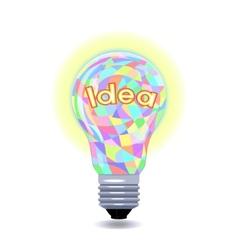 Idea as an lightbulb vector