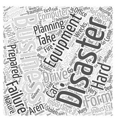 Importance Of Recovery Planning LONG Word Cloud vector
