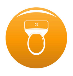 Lavatory icon orange vector