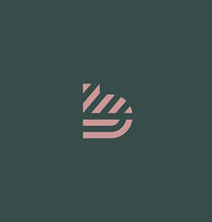 Letter b line logo design creative vector