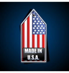 Made in USA tag vector