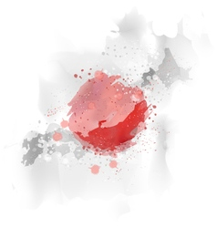 Map Japan Watercolor paint vector