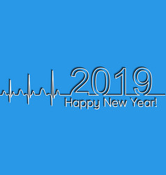 medical christmas banner 2019 happy new year vector image