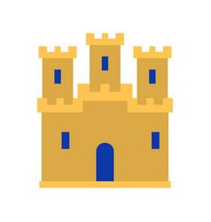 medieval vintage castle icon castle vector image