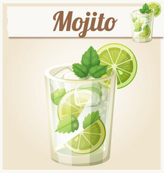 Mojito cartoon icon vector
