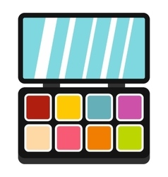 Palette eye shadow icon flat style vector