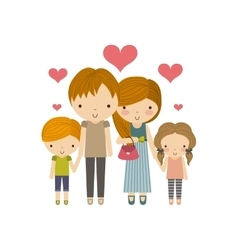 Parents and kids icon Family and cute people vector