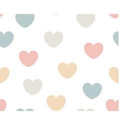 pastel heart seamless pattern for fabric simple vector image