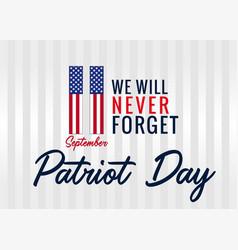Patriot day usa creative banner vector