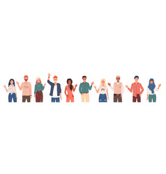 people greeting gesture different nations vector image