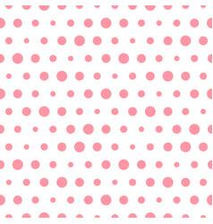 pink polka dot seamless pattern with circles vector image