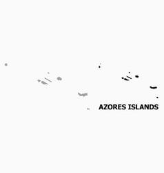 Pixel pattern map azores islands vector