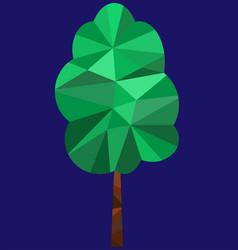 polygon tree image vector image