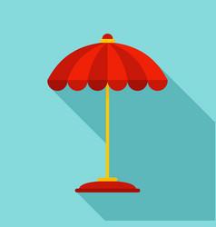 Pool umbrella icon flat style vector