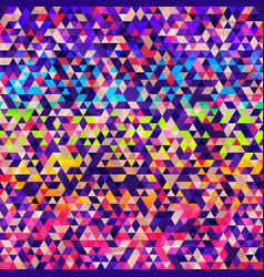 rainbow color triangle seamless texture vector image