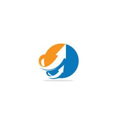round arrow up company logo vector image