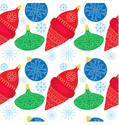 Seamless colorfull pattern with christmas ball vector