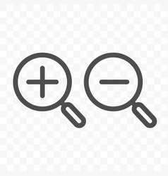 Search zoom in and out icon isolated vector