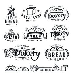 set bakery labels badges and design elements vector image