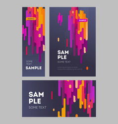 set flyer and poster minimalistic flat design vector image