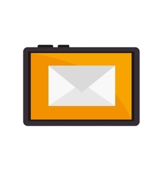 Smartphone device mail email text vector