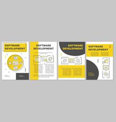 software development brochure template layout vector image
