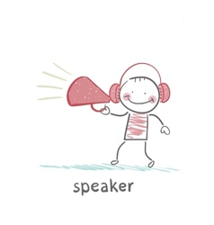 speaker of the headphones into the says vector image