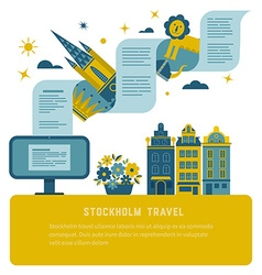 Stockholm travel poster vector