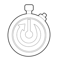 Stopwatch icon outline style vector