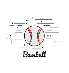 symbol baseball play icon vector image