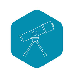Telescope icon outline style vector