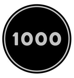 Thousand black coin vector