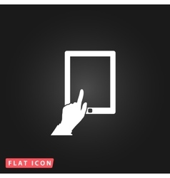 Touch screen tablet vector