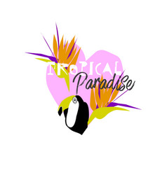 tropical cartoon jungle vector image