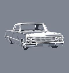 vintage car 12 vector image