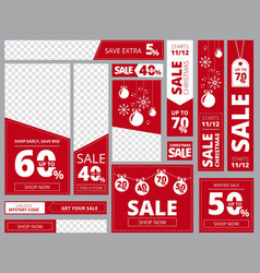 web banners standard sizes advertizing business vector image