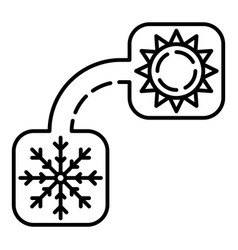 winter summer conditioner icon outline style vector image