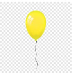 yellow balloon 3d thread isolated white vector image