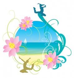 abstract sea and beach holiday vector image vector image