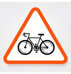 Bicycle sign plate vector
