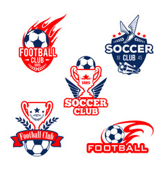 football sport club soccer game competition badge vector image vector image