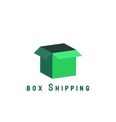 Free shipping delivery box block delivery agancy vector image