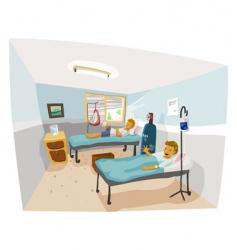 hospital room vector image vector image